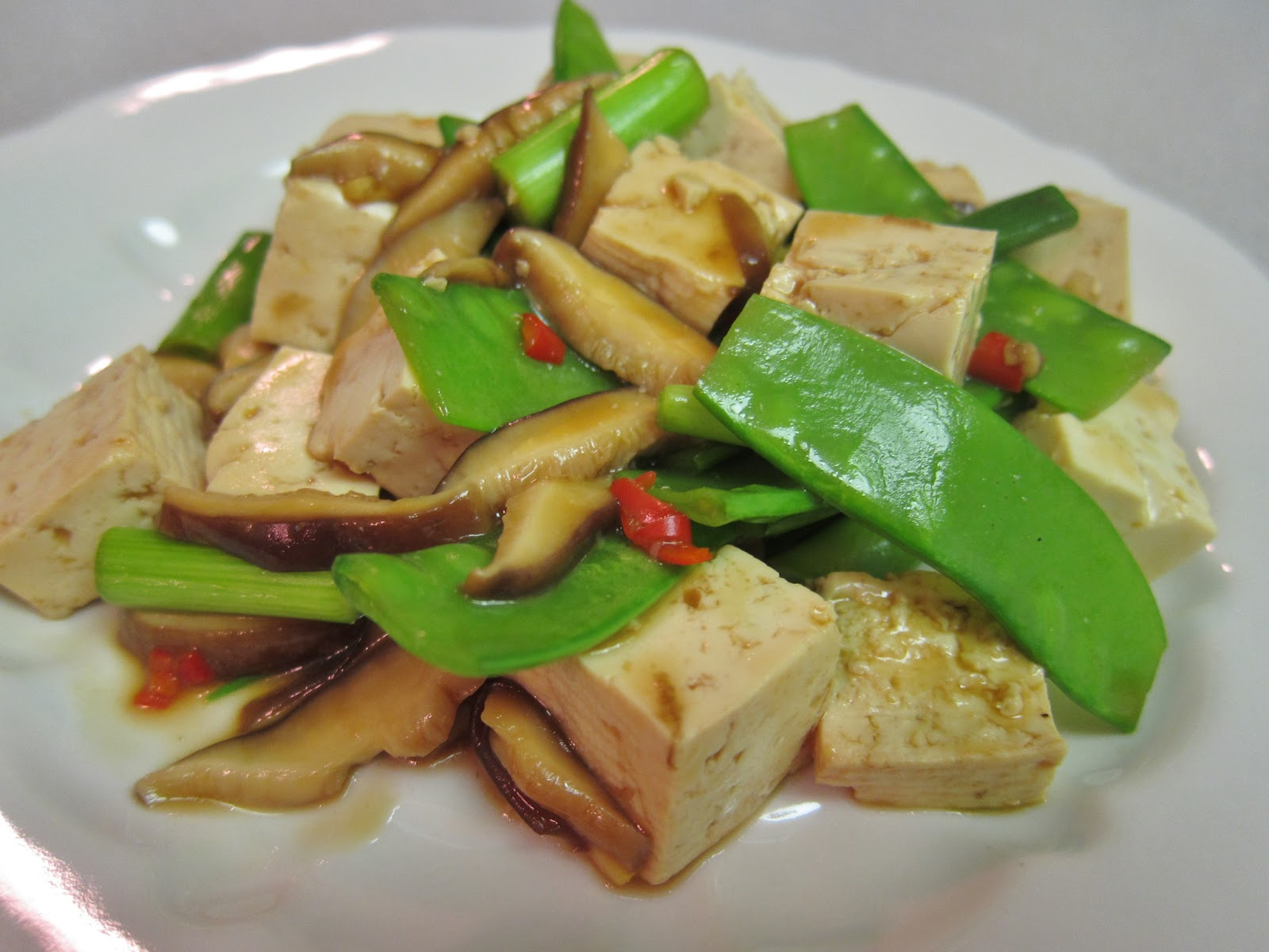 The Vegan Chronicle: Stir-Fried Tofu, Shiitake Mushrooms, and Chinese ...
