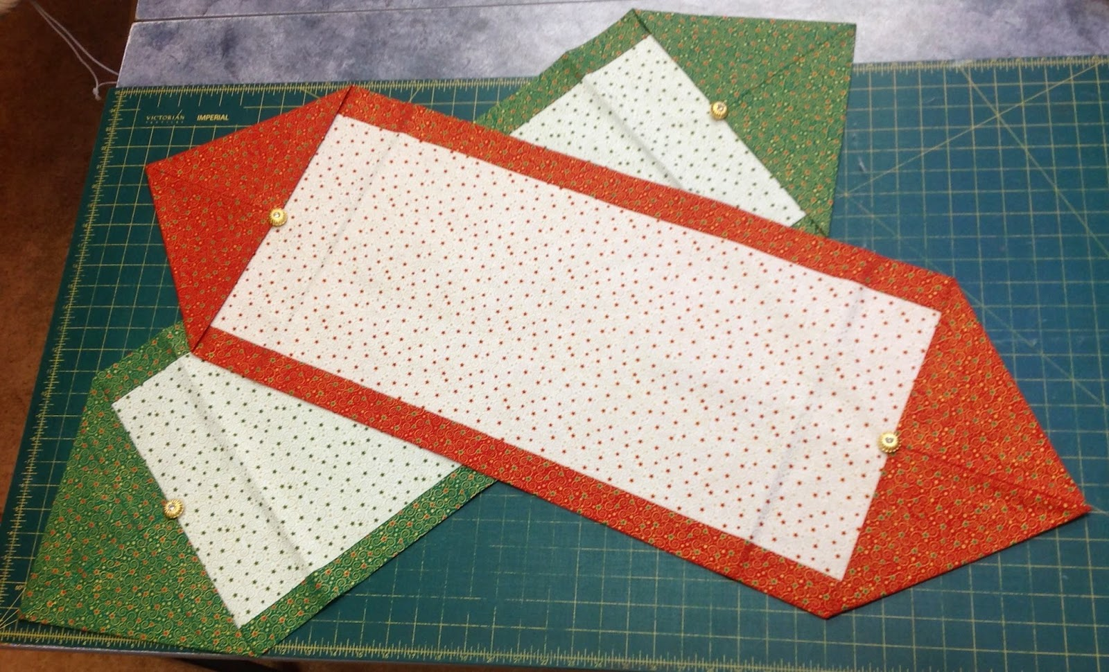 Butterz 1xiam or 2 3 or 4 for 10 minute table runner instructions