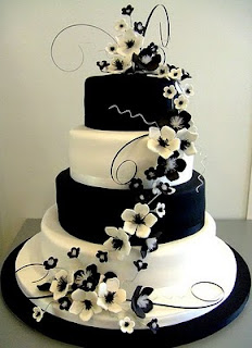 Black and White Wedding Cakes Pictures