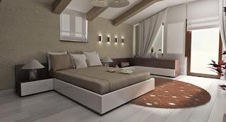 model tempat tidur minimalis natural dan putih