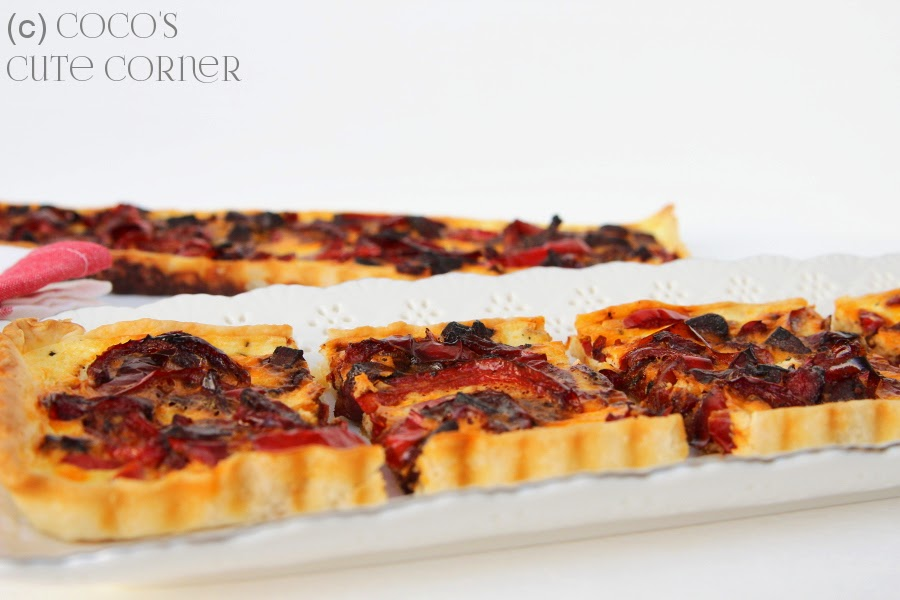 Crostata with Peppers and Chorizo