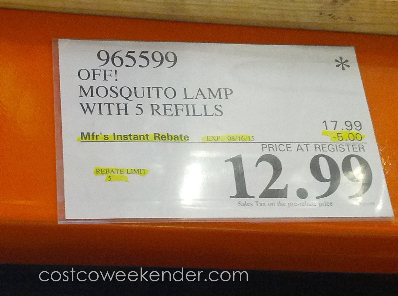 Deal For The Off! Mosquito Lamp Including 5 Refills At Costco