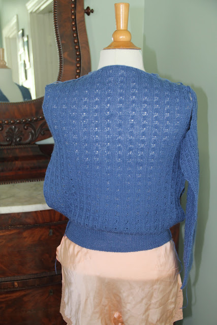So Neat and Sweet in her simple v-necked Jersey from A Stitch in Time by Susan Crawford