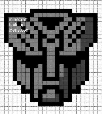 minecraft pixel art templates autobot