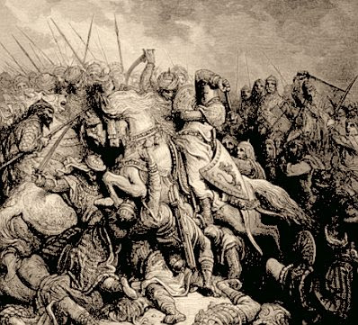Gustave Doré: Richard and Saladin at the Battle of Arsuf (detail)