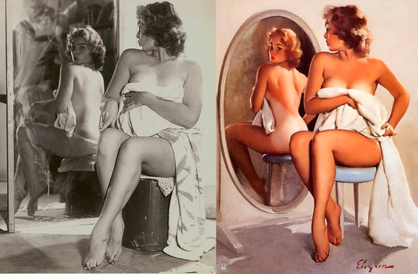 famous fifties pin up paintings