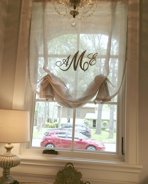Lowcountry Spoiled: Monogrammed Monday {Window Treatment