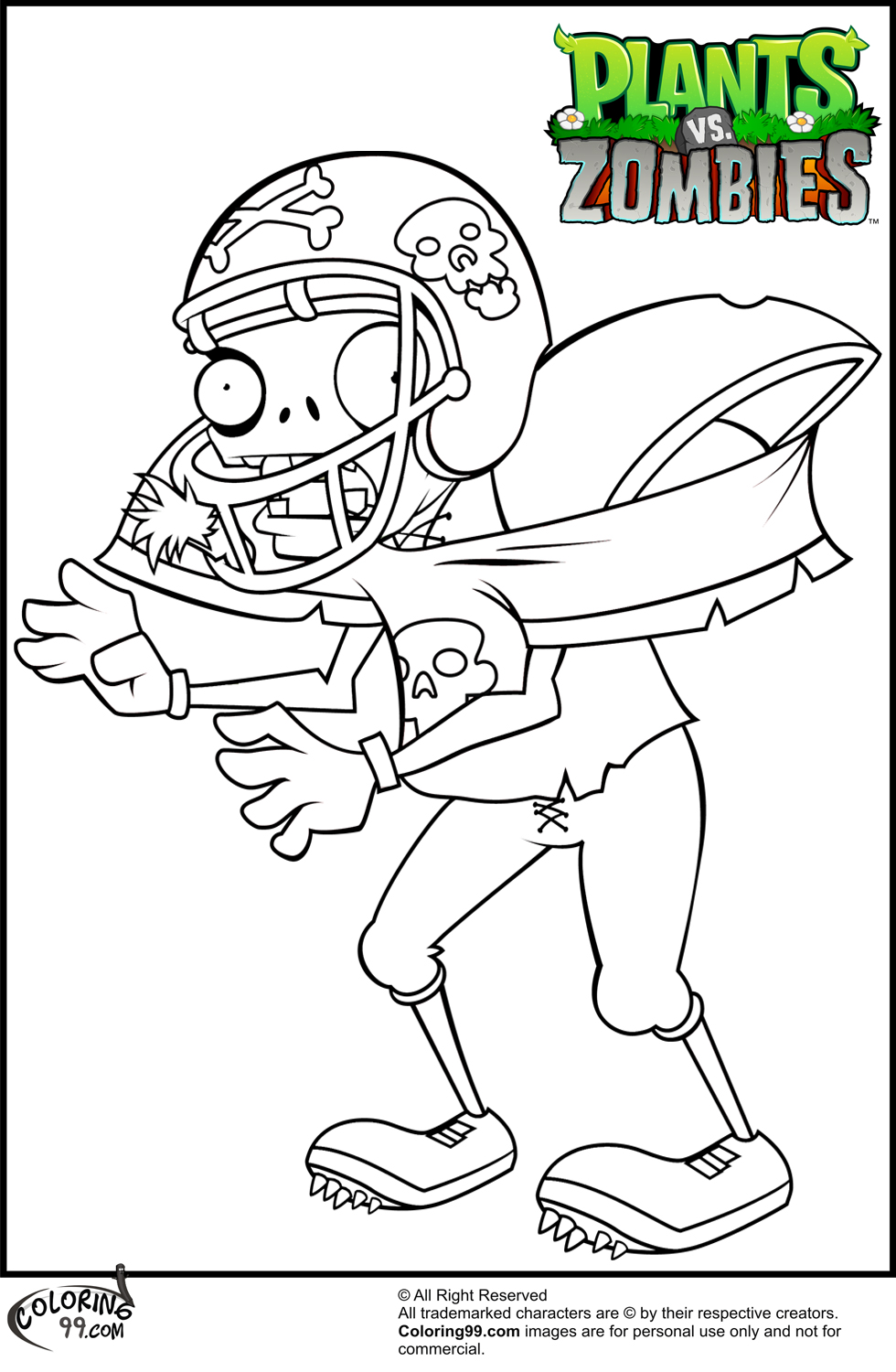 pvz garden warfare coloring pages - photo#34