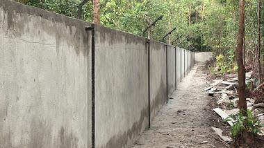 Mur de gauche de l'enclos principal