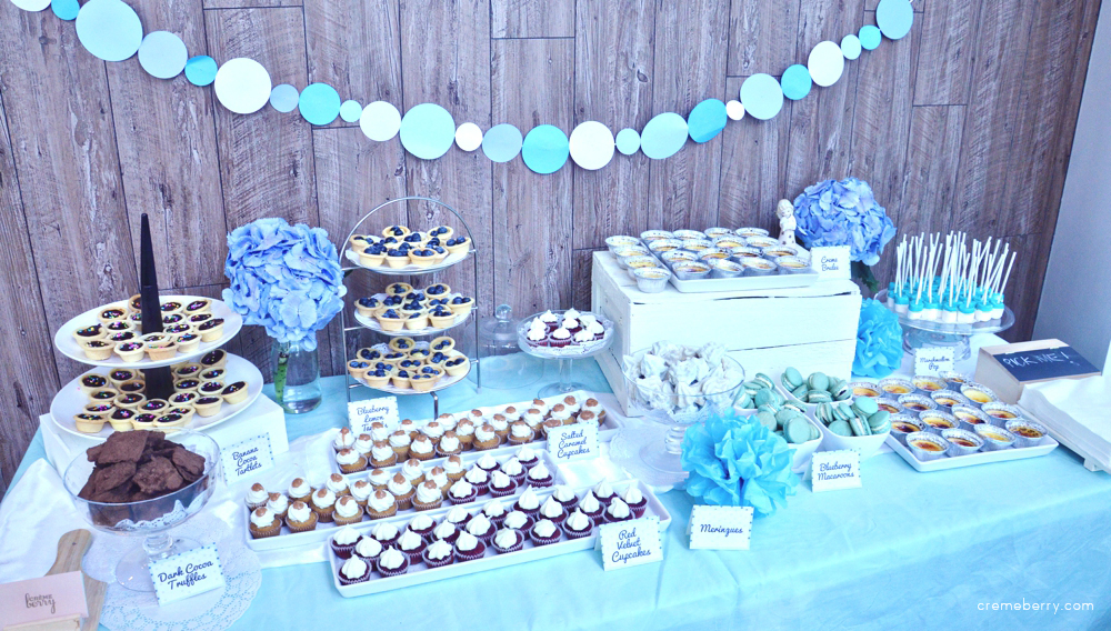 how the backdrop fits in nicely with the desserts and the garlands