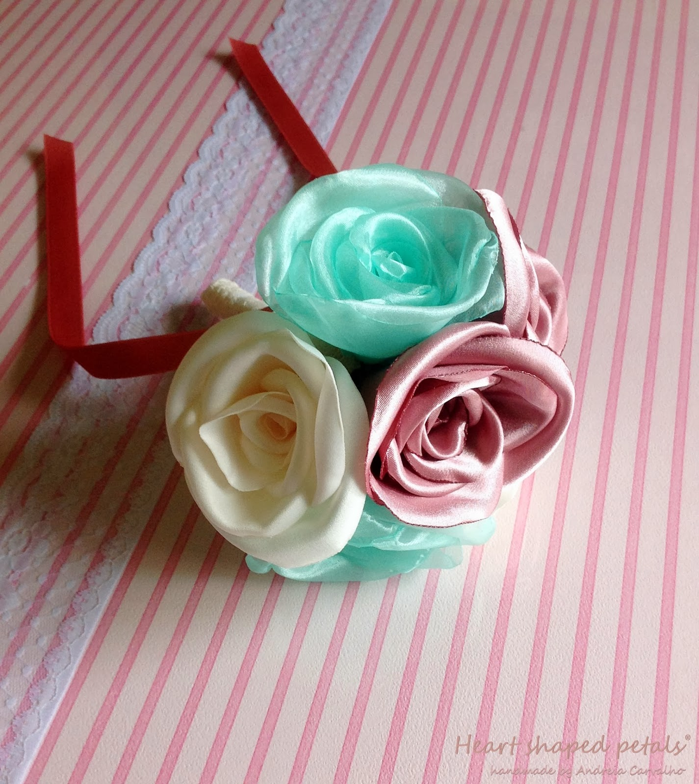 Bridesmaids romantic fabric bouquet