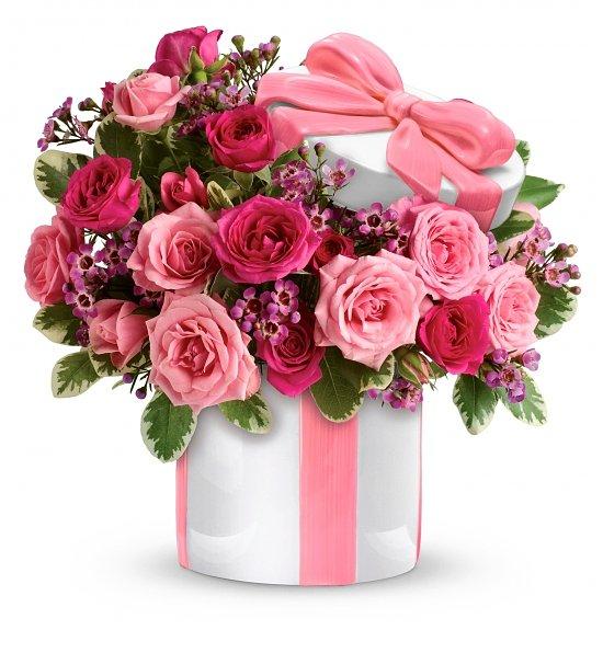 Цветок поздравление на день рождения оригинальный подарок