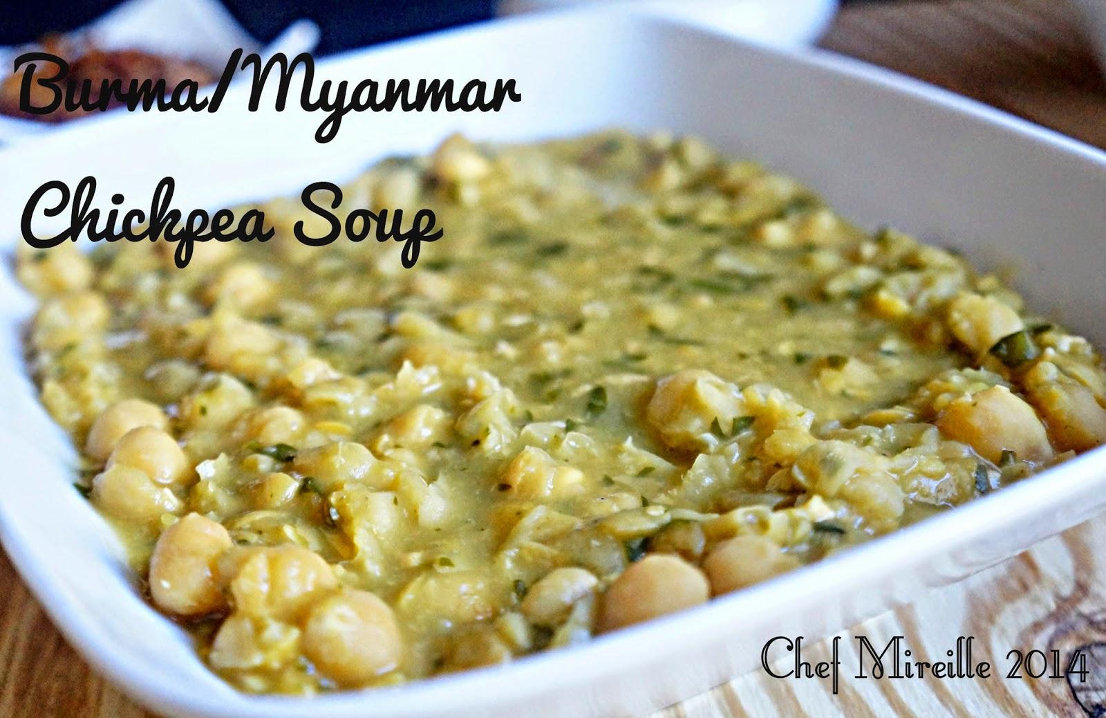 burmese chickpea soup meal