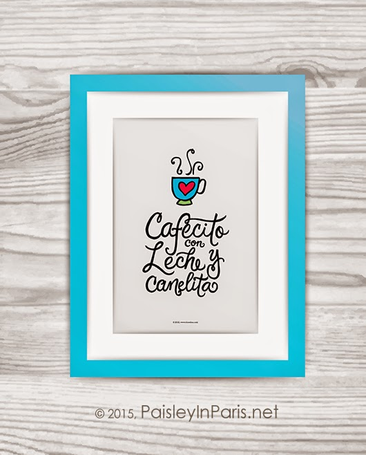 Spanish Lettering Framed Art