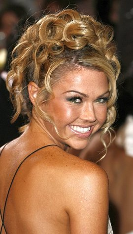 celeb updo hairstyles. Curly Updo Hairstyles