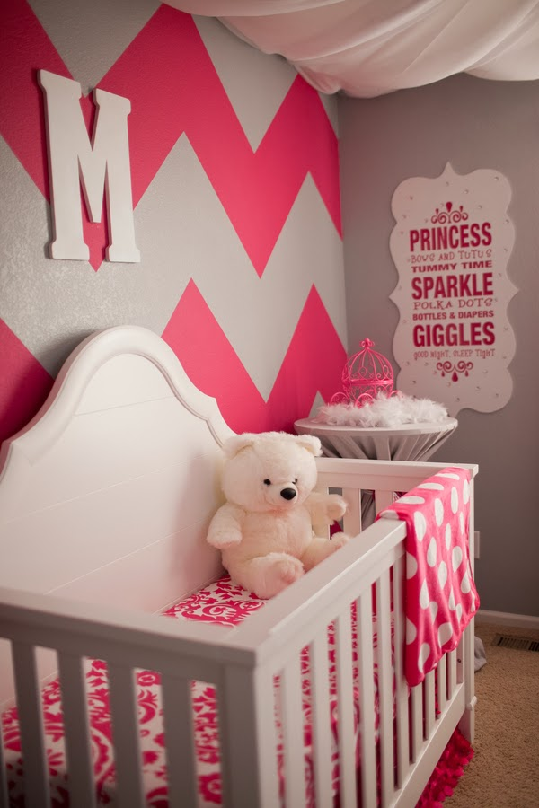 Pop of pink the frosted petticoat Baby girl room ideas