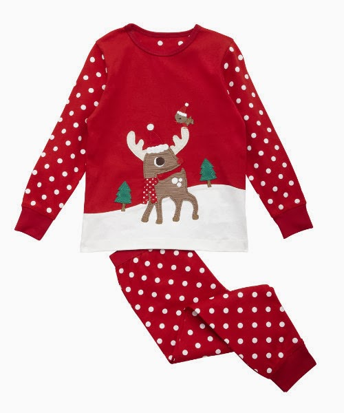 Christmas pyjamas from Mothercare | V. I. BUYS