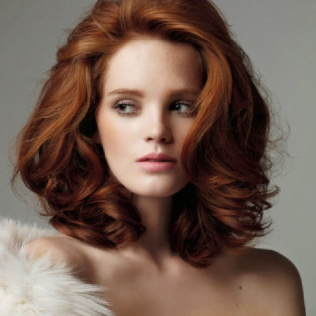 Red medium hairstyle