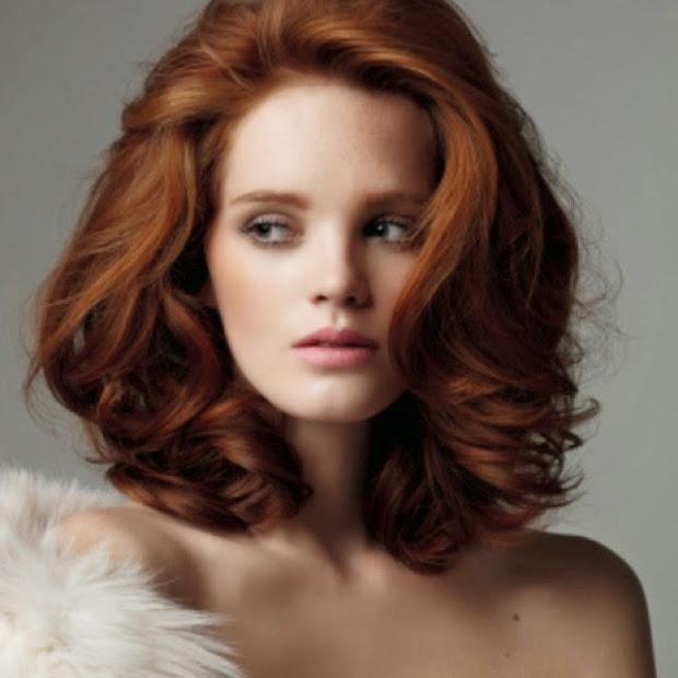 medium red hairstyles girls
