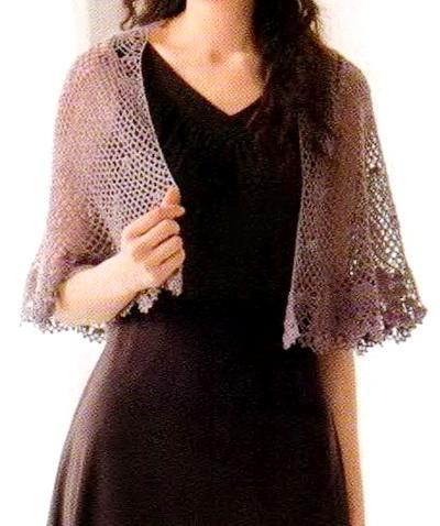 Crochet Patterns For Shawls With Sleeves : Crochet Shawls: Crochet Lace Cape Pattern Free