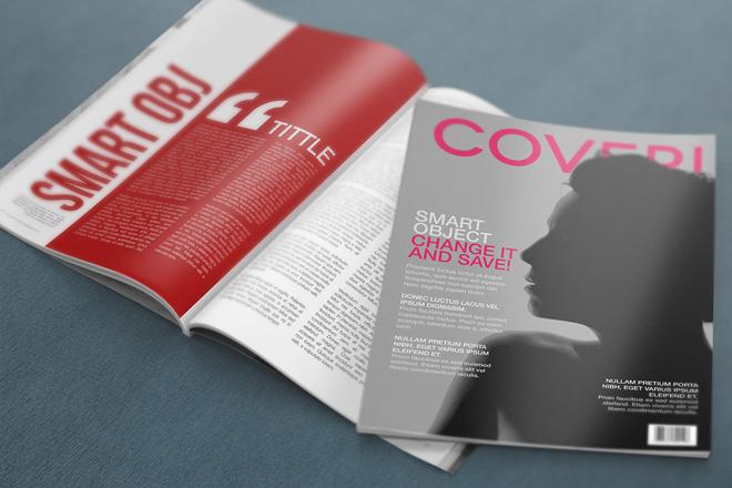 Realistic Magazine Mockup PSD