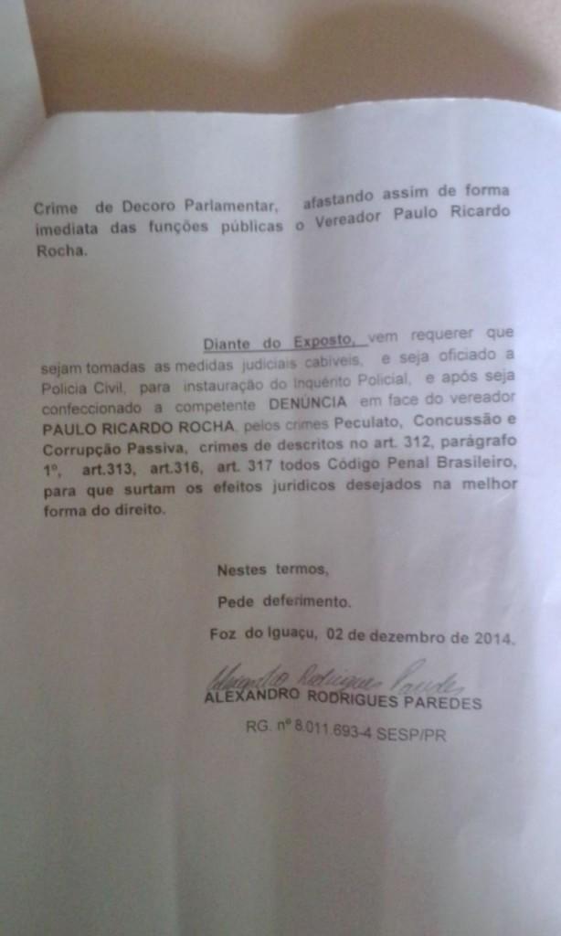 Paulo Rocha o vereador ostentação de Foz do Iguaçu é processado