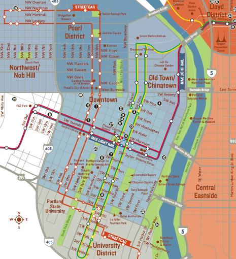Portland Maps  Free Printable Maps