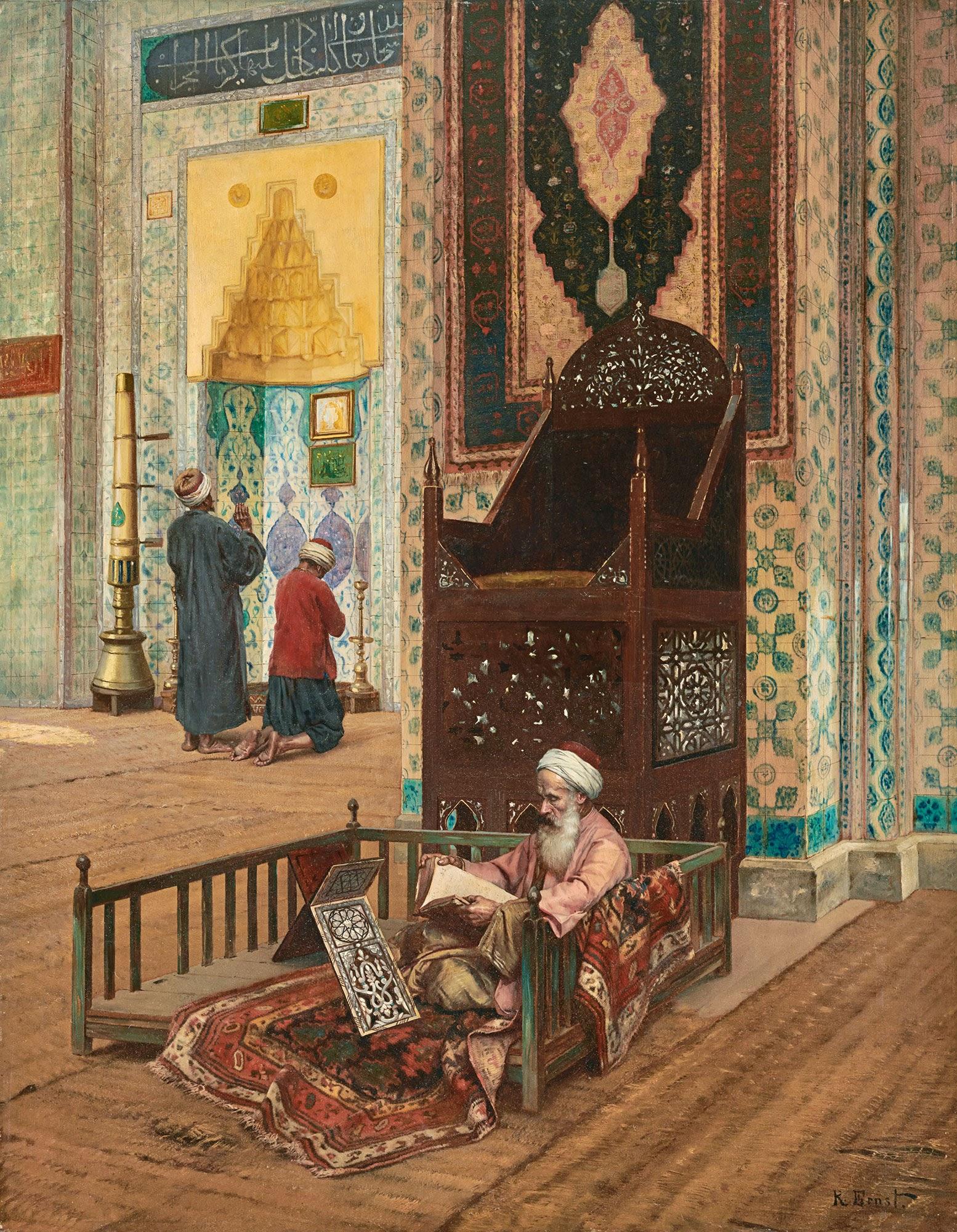 Rudolf Ernst The Mosque of R C  Cstem Pasha Constantinople