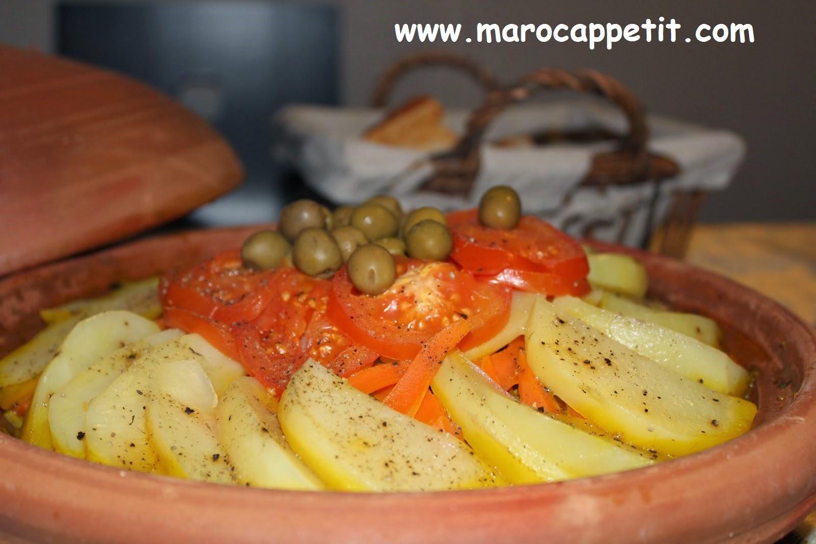 Tagine de pommes de terre et olives |Tagine of potatoes and olives