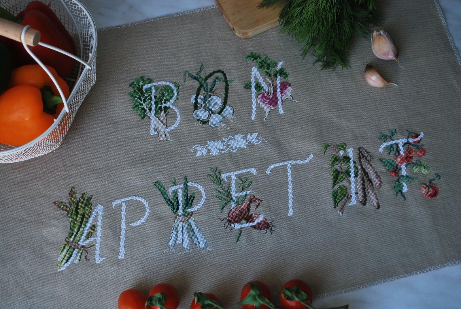 """Моя работа """"Bon Appetit"""" заняла 2-e место в конкурсе """"Цифры и буквы"""" на сайте nacrestike.ru"""