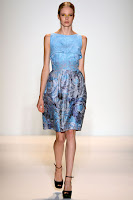 Къса рокля без ръкави Lela Rose пролет-лято 2013