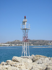 Feu rouge de Faliraki (Rhodes, Grce)