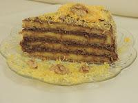Oranž torta sa čokoladom, orasima i korama od oraha