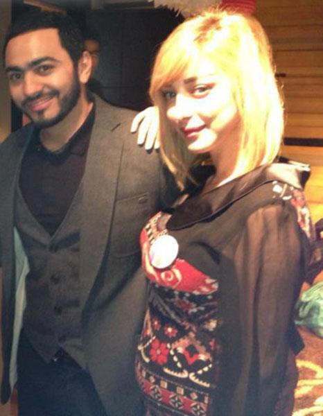 Photo de Basma enceinte épouse Tamer Hosni