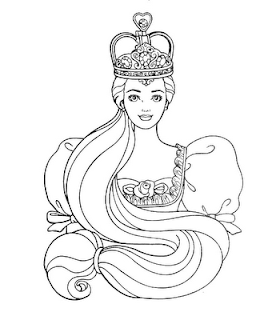 Barbie 12 Dancing Princesses Printable Coloring Pages