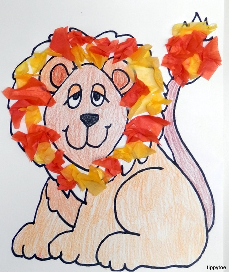 lion preschool craft tippytoe crafts lazy lions 254