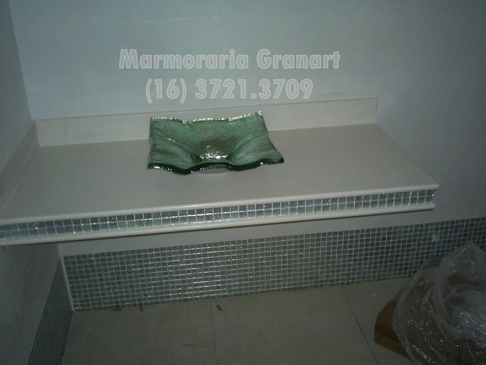 Marmoraria Granart: Bancadas de banheiro em porcelanato #4C5A50 1600x1200 Acabamento De Banheiro Com Porcelanato