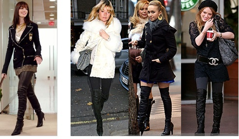knee high black boots women outfits