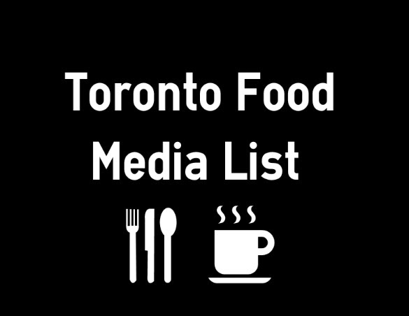 Toronto Food and Restaurant Media Email List