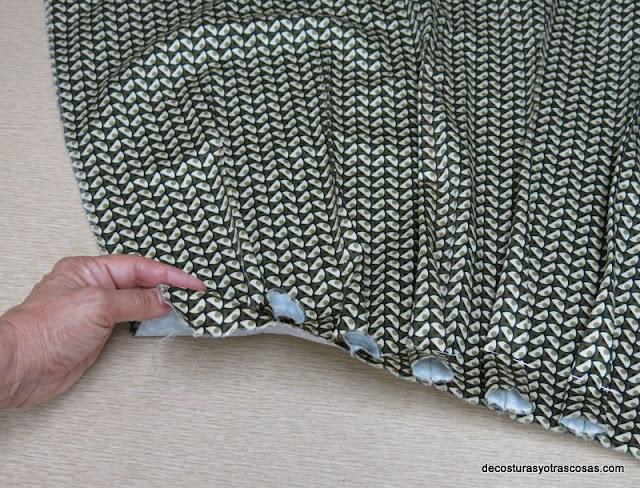 planchado de pinzas falda hacia el derecho
