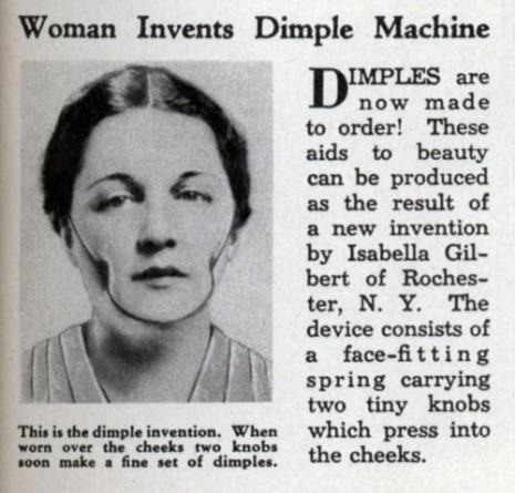 isabella gilbert, dimple machine, covinha, 1936, invenção bizarra, wtf, curiosidades, eu adoro morar na internet