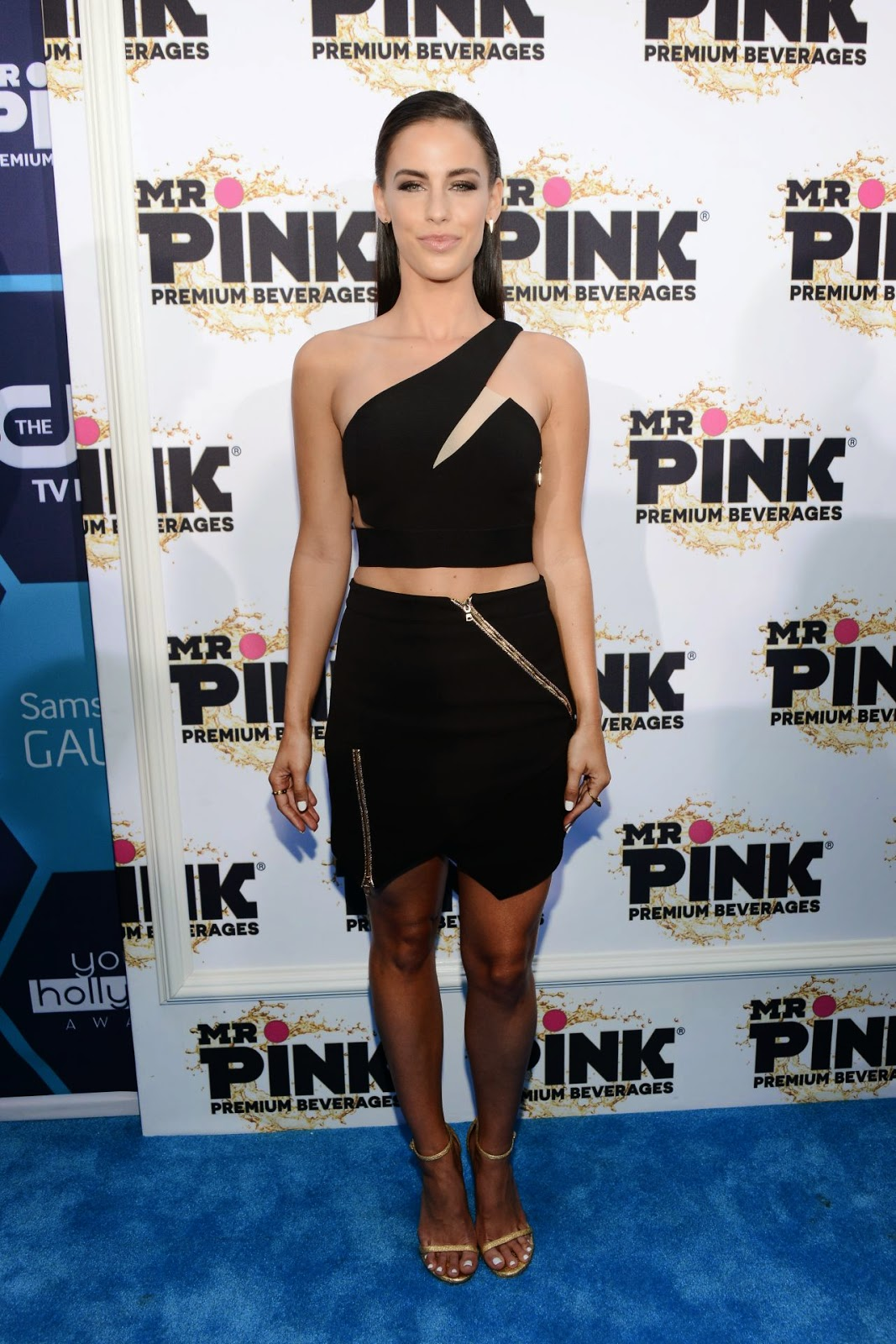 Jessica Lowndes in a sexy Three Floor look at the 2014 Young Hollywood Awards