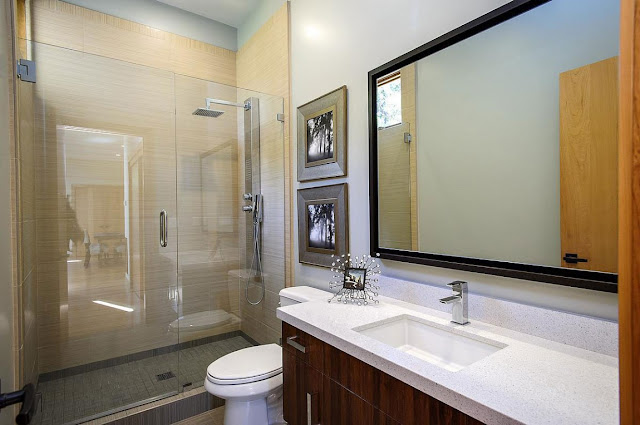Modern sink in the Contemporary Style Home in Burlingame