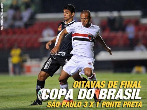 Pela Copa do Brasil São Paulo 3 x 1 Ponte Preta