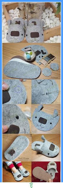 como hacer unas zapatillas divertidas