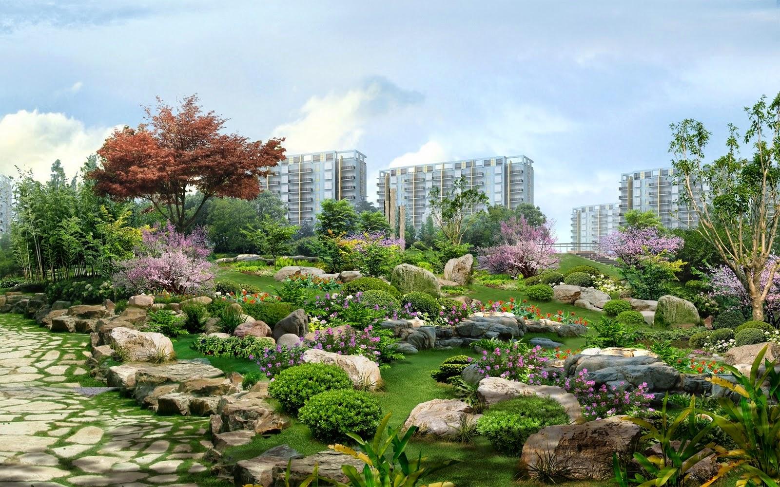 Flower Garden Landscape High Resolution Pictures