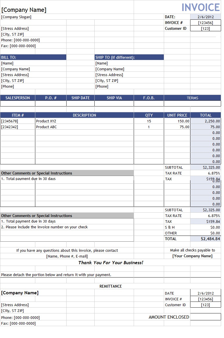 cash sales invoice sample – Sales Invoice Sample