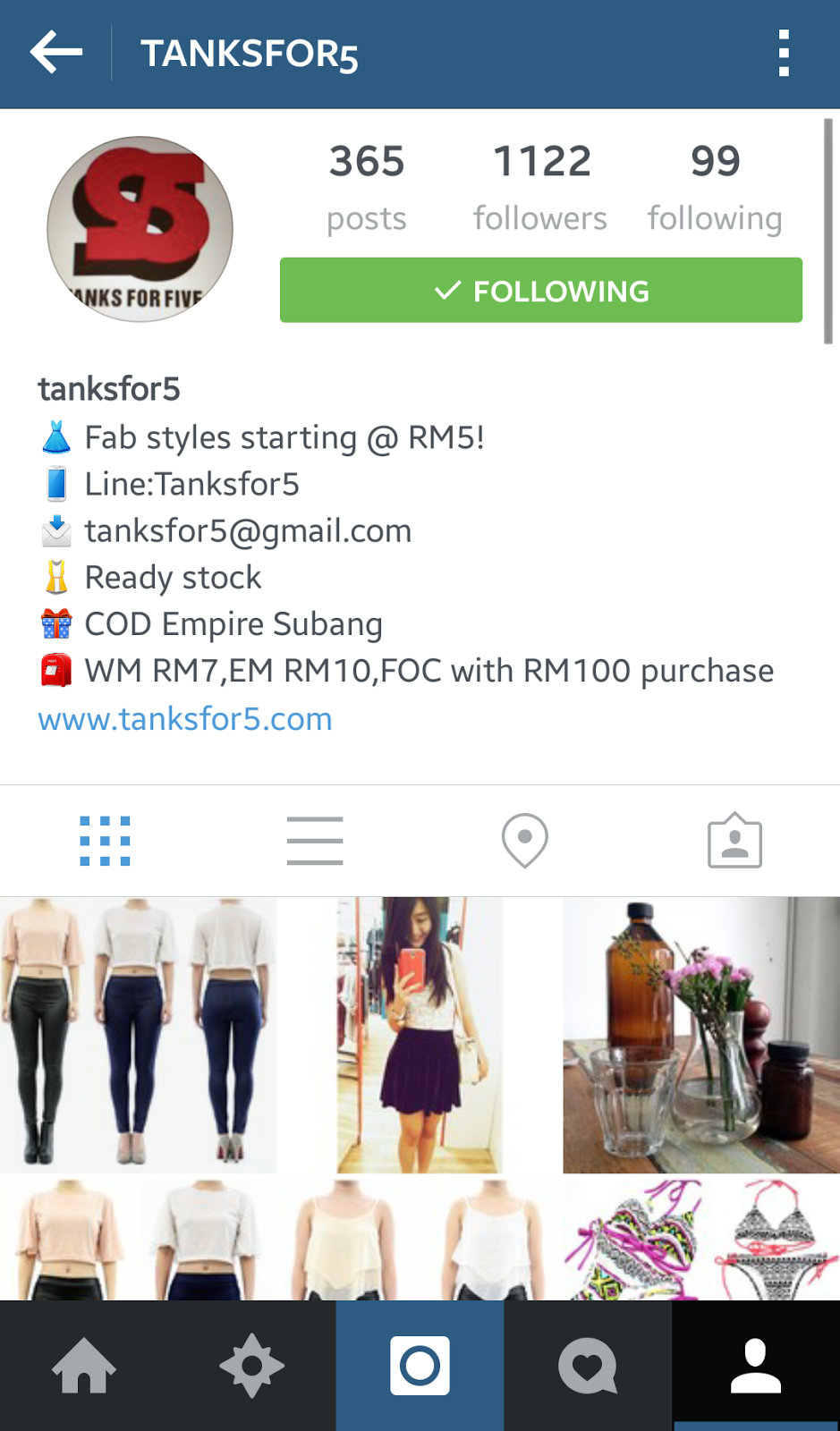 Top 5 affordable online shop on instagram malaysia for Best cheap online store
