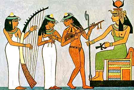 Los instrumentos que más utilizaban los egipcios en nuestro taller de arteterapia