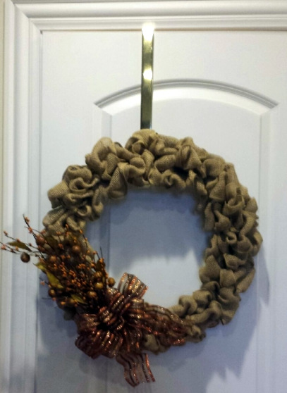 Burlap DIY Wreath